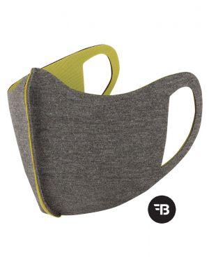 Mondkapje  health mask uitwasbaar grijs lime