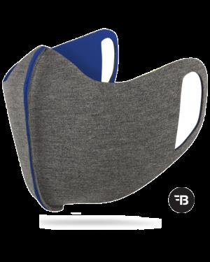 Mondkapje  health mask uitwasbaar blauw