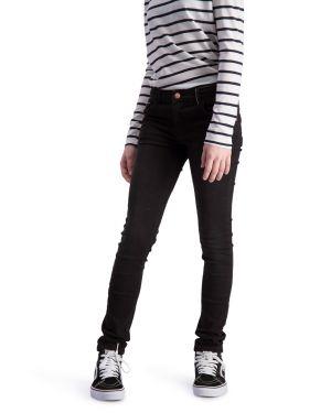 Impulse Zwart - Spijkerbroek Stretch Denim Skinny