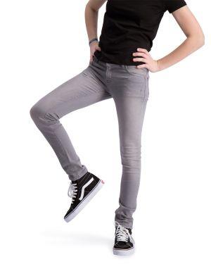 Impulse Grijs - Spijkerbroek Stretch Denim Skinny