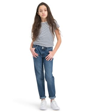 Puffin Dark Blue - Boyfriend Jeans